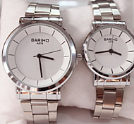 Man And Woman Fashion Steel Belt Quartz Wrist Watch