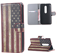 Vintage American Flag Wallet Flip PU Leather Protective cover Case for Motorola MOTO G3 G 3nd Gen XT1552