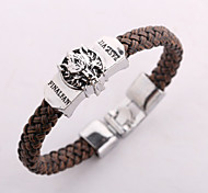Women's Fashion Girl Love Jewelry Retro Animation FINAL FANTASY Cosplay Alloy Wristbands Leather Bracelets Bangles