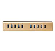 hub usb maiwo USB3.0 com 10port com 3 bc 1.2 porta de carregamento até 2.4a kh210