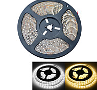 JIAWEN® Waterproof 5M 300-3528 SMD 2000lm 3000-3200K / 6000-6500K Warm White / white Light LED Strip Light  (DC12V /5M)