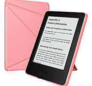 ESR Yippee Color Series Patented Tri-fold Design Glare-Free PU Leather Magnetic Smart Case for Kindle 7th Gen-Pink