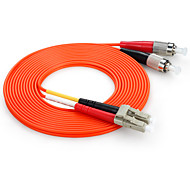 cable de conexión de fibra de doble núcleo shengwei® lc (upc) -lc (upc) simplex 3m / 5m / 10m