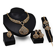 European Jewelry Necklace Earrings Set Of Four Pieces Of Jewelry Set