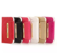For iPhone 6 Case / iPhone 6 Plus Case Card Holder / Wallet / Rhinestone / with Stand / Flip Case Full Body Case Solid Color HardGenuine