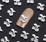 New 50PCS Nail Art Jewelry Nail Decorations Alloy White Rhinestone for Aryclic Nails Nail Tips Decorations