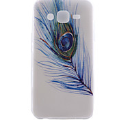 Feather Pattern TPU Material Transparent Soft Cell Phone Case for Samsung Galaxy J1/J5