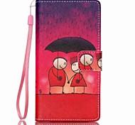 pintado caso de telefone pu para Huawei p8 Lite
