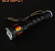 Lanternas LED / Lanternas de Mão (Recarregável / Superfície Antiderrapante / Bisel de Golpe / autodefesa / High Power) - LED 5 Modo 900
