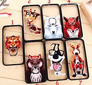 los nuevos casos de la familia de los animales de la hebilla del anillo 3d aacrylic para iphone 6 más / 6s iphone plus (colores surtidos)