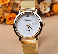 Men's Women's Unisex Fashion Watch Quartz Alloy Band Gold