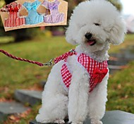 FUN OF PETS® Classic Check Lace Countryside Style Harness with 120cm Leash for Pets Dogs(Assorted Sizes and Colours)