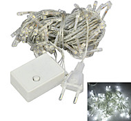 JIAWEN® 10M 4W 100-LED 8-Mode White Light Christmas Decoration String Lights (EU Plug , AC 220V)