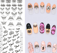 Big Page Water Transfer Printing French Linellae  Nail Stickers