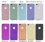 colorido protector de lujo bling del brillo de pantalla adhesivo abrigo de piel para el iphone 5 / 5s (colores surtidos)