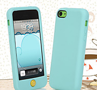 Candy-Colored Edging Silicone Material Phone Case for iPhone 5C (Assorted Colors)
