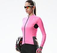 Santic Women's Long Sleeve Cycling Jersey Warm Keeping Cycling Jersey
