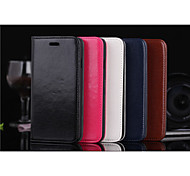 Newest  Flip Cover Wallet Case Card Slot Oily Leather Simple PU Mobile Phone Shell for iphone 6 4.7 Assorted Colors