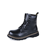 Men's Shoes Outdoor / Athletic / Casual Leather Boots Black / Brown / Red