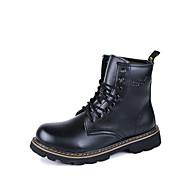 Sapatos Masculinos Botas Preto / Marrom / Vermelho Couro Ar-Livre / Casual / Para Esporte