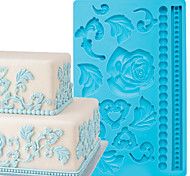 Cake Decoration Tools Baroque Fondant and Gum Paste Mold Cake Decorating Border Silicone Mold