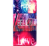 Hope love Pattern PU Leather Case with Money Holder Card Slot for BQ Aquaris E5