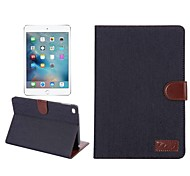 Multifunction Jeans Denim Wallet Flip Case With Credit Card Cover Cowboy Bag for iPad Mini 1/2/3(Assorted Colors)
