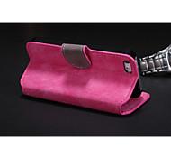 Для Кейс для iPhone 5 Бумажник для карт / со стендом / Флип Кейс для Чехол Кейс для Один цвет Твердый Искусственная кожа iPhone SE/5s/5