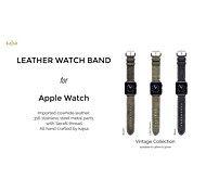 Kajsa Classic Buckle PU Watchband With The Connector for Apple Watch 38/42mm Assorted Colors