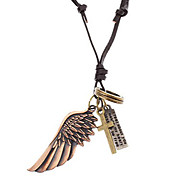 Europestyle Retro  Cross Wing Alloy Necklace