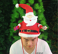 Celebration Christmas Santa Claus Doll Cosplay Costumes Hats Caps For Christmas Party