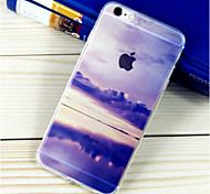 Cloud Pattern TPU Soft Case for iPhone 6/6S