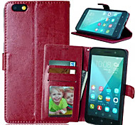 High Quality PU leather Wallet Mobile Phone Holster Case For Huawei Honor 4X(Assorted Color)