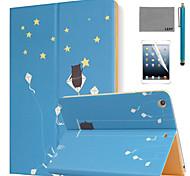 lexy® estivi stelle modello PU cuoio di vibrazione caso del basamento con la protezione dello schermo e lo stilo per l'aria iPad / iPad 5