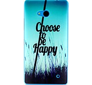 For Nokia Case Ultra-thin Case Back Cover Case Word / Phrase Soft TPU Nokia Nokia Lumia 640