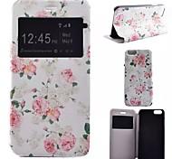 Voor iPhone 7 hoesje / iPhone 7 Plus hoesje / iPhone 6 hoesje / iPhone 6 Plus hoesje met standaard / met venster / Flip / Patroon hoesje