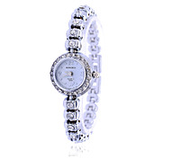 New Women Dress Silver  Watches Brand Watch Bracelet Luxury Quartz Crystal Watch Women Wristwatches