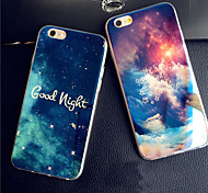 Good Night Starry Sky Blue Glare Cool Blue Light Reflective Soft TPU Case for iphone 6 Plus/6s Plus
