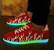 zapatillas de deporte unisex de luz la moda masculina& mujeres llevaban zapatos USB tendencia a cargar la luminosa
