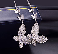 Hot Style Multi-Level Butterfly Fashionable Joker Frosted Earrings