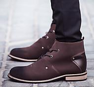 Черный Коричневый-Мужской-Для офиса Повседневный Для занятий спортом-Дерматин-На плоской подошве-Удобная обувь Оригинальная обувь Модная