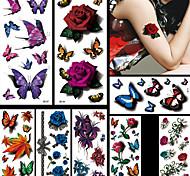Tatuaggi adesivi - Serie animali / Serie fiori / Altro - Unbranded - Da donna / Da uomo / Adulto / Teen - 8 - Modello - di Carta -9 *