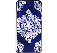 Blue-White Flower Pattern PC Back Cover for iPhone 6