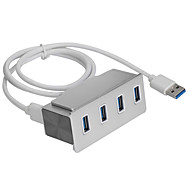 Clip-on USB 3.0 4-Port Aluminum Hub