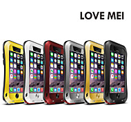 Original LOVE MEI Gorilla Glass Slim Waist Metal Waterproof Case Cover for iPhone 6S