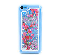 Plum Flower Flow Sand PC Material Cell Phone Case for iPhone 5C