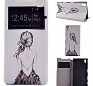 Painted PU Phone Case for Sony Xperia Z5