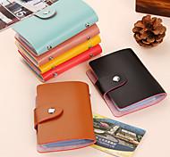 Stylish PU Leather Business Credit Card Holder(24-Pocket Assorted Color)