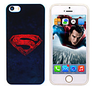 iPhone 5 Marvel Superman Mirror Back Blue Cover Case Free with Headfore HD Screen Protector for iPhone 5/5s
