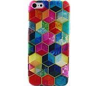 Cube Pattern TPU Material Phone Case for iPhone 5C